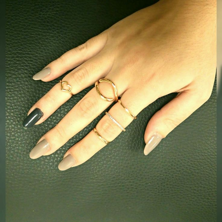 gold fashion rings in 14K with love!! <3
