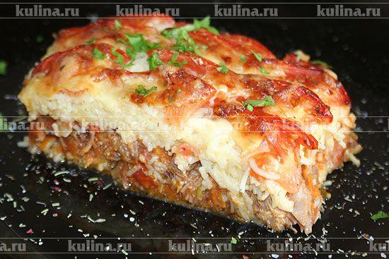 Запеканка из макарон с томатами - рецепт с фото