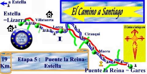 PAMPLONA - LOGROÑO. Etapa 2: Puente la Reina-Estella. Salimos por el Puente construido sobre el río Arga, por la reina Munia en el Siglo XI y entramos en el barrio de las Monjas.  Surcando el valle, llegamos a Mañeru, donde podemos visitar la Iglesia Gótica de San Pedro y las ruinas del hospital de Bargota.  Llegamos a Cirauqui, calles y viviendas arracimadas en la ladera de una montaña, nos trasladan a la época medieval, destacando el Pórtico de la Iglesia de San Román.  Podemos ver, las…