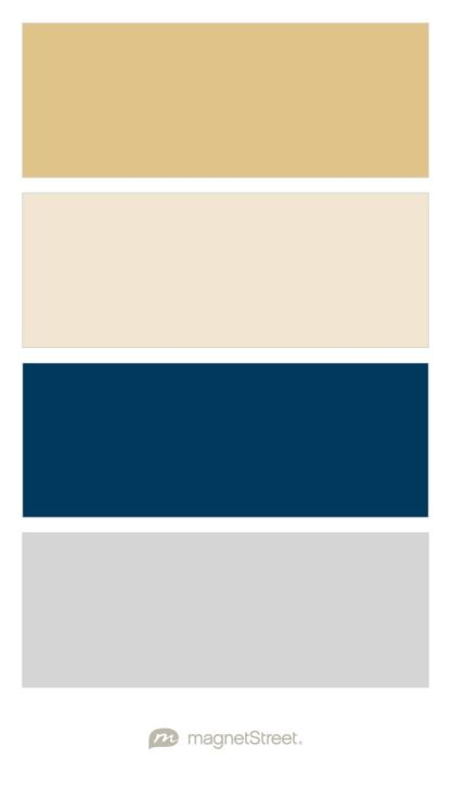 Gold, Champagne, Navy, and Silver Wedding Color Palette - custom color palette created at MagnetStreet.com                                                                                                                                                                                 More
