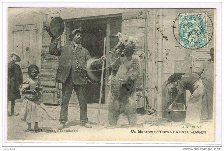 Other municipalities - Delcampe.fr demonstratorzy niedźwiedzi na starych pocztówkach, bear street shows on vintage postcards