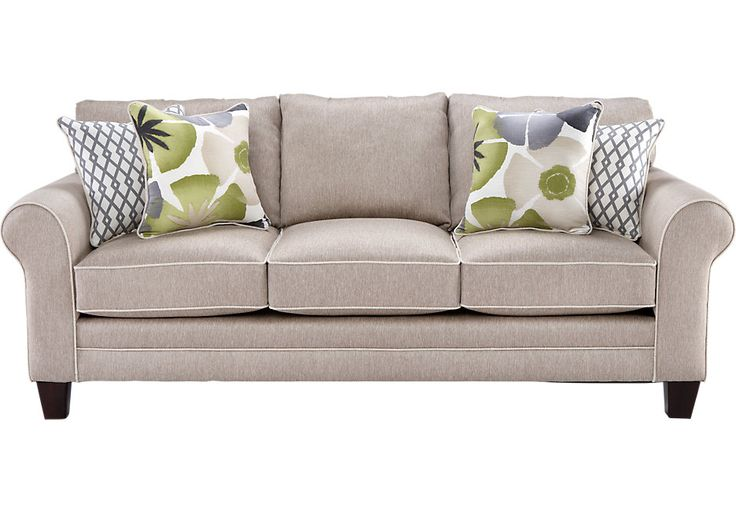 Lilith Pond Taupe Sofa.499.99. 88W x 38D x 37H. Find affordable Sofas for your home that will complement the rest of your furniture. #iSofa #roomstogo