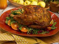 Crispy-Skinned Herb-Roasted Turkey Recipe : Jeff Mauro : Food Network