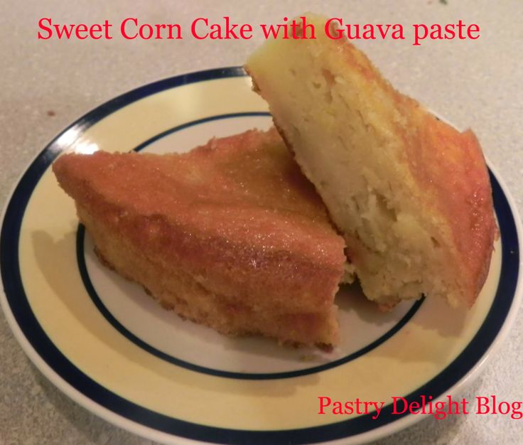 PASTRY DELIGHT: SWEET CORN CAKE WITH GUAVA PASTE