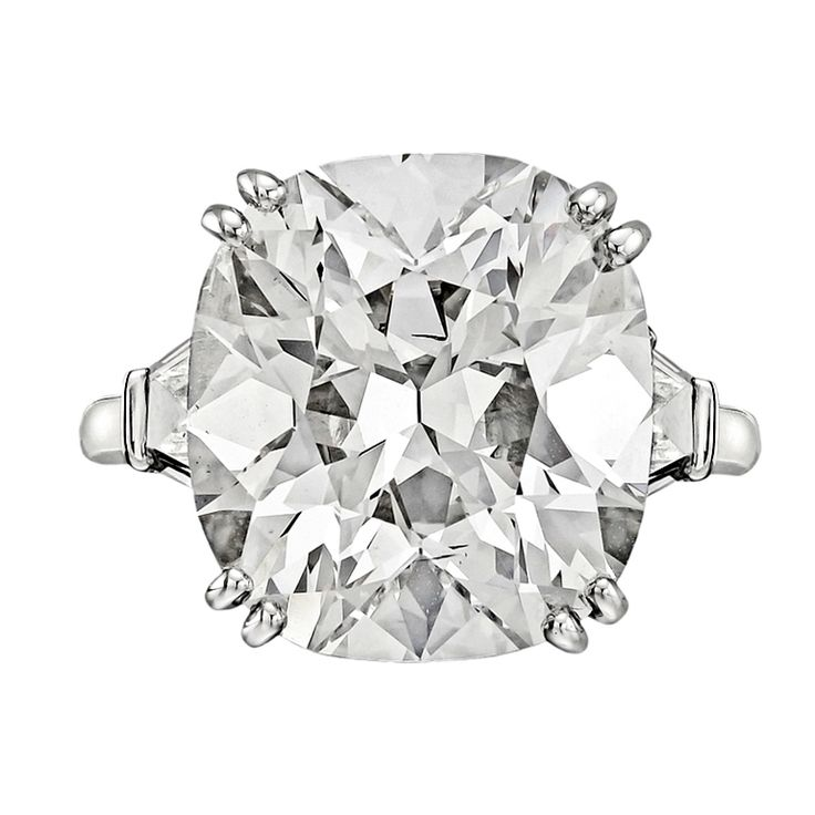 BETTERIDGE 10.18 Carat Round Brilliant Diamond Engagement Ring (via @1stdibs)