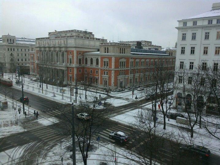 Snowy Wienna.