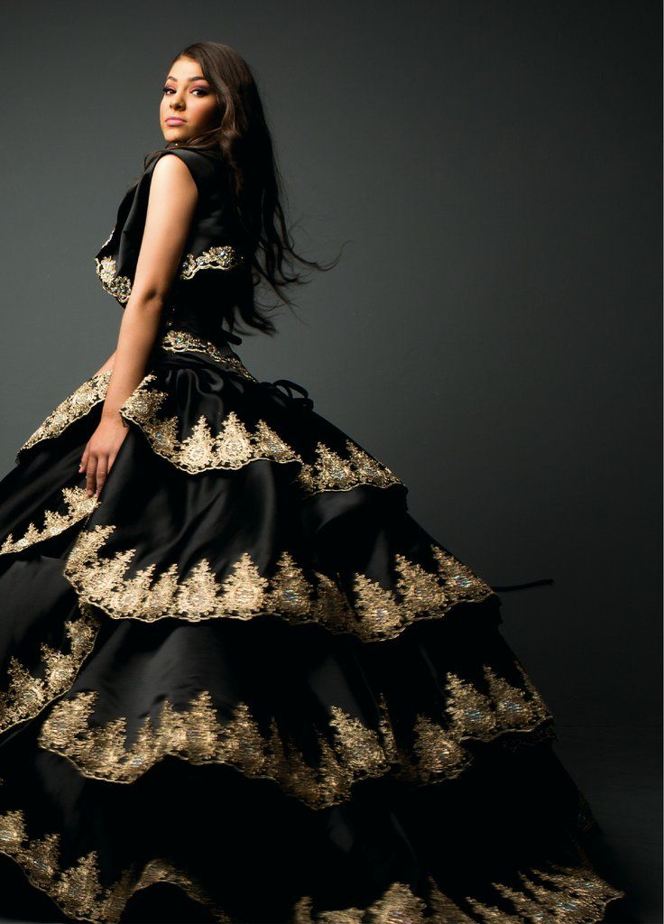 1355a9e2411 Black Gold Appliqued Quinceanera Dress by Ragazza Fashion Style B53-353-Ragazza  Fashion-ABC Fashion