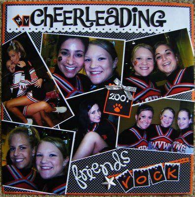 cheerleading scrapbook ideas - Google Search