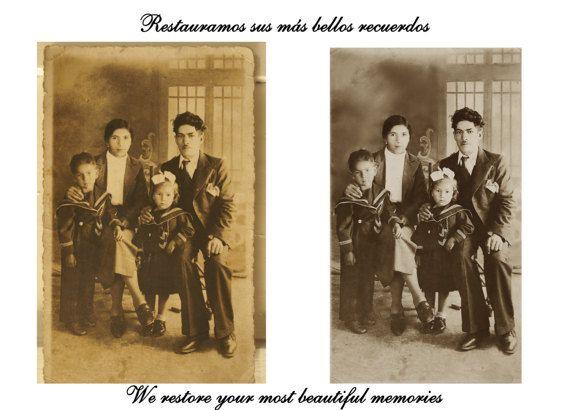 Recuerdo de Familia Fotografía Restaurada por ArtesanosdelasFotos