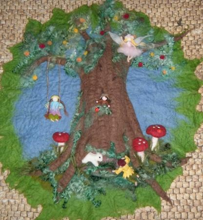The Friendship Tree- natural toys handcrafted wooden and felt toys, faeries, gnomes and art - Felt Art Gallery