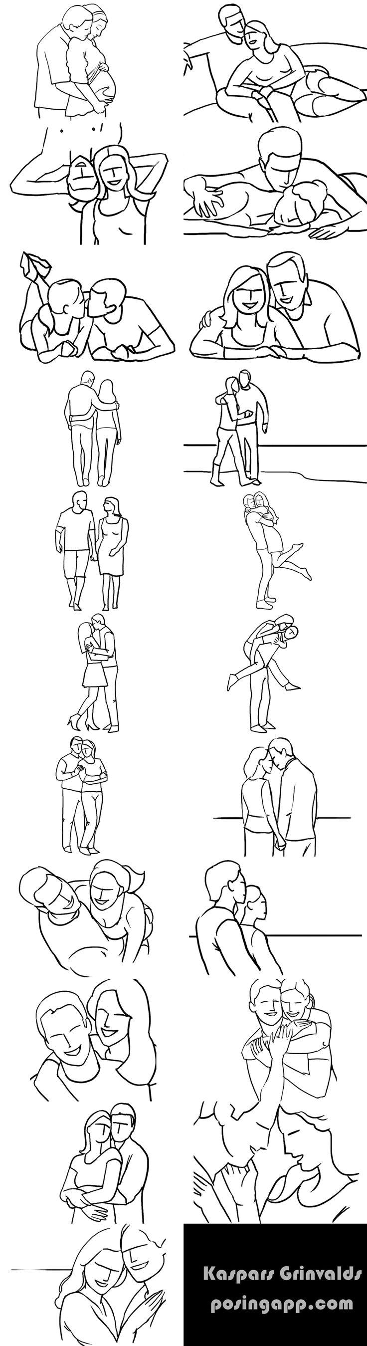 Ideas para poses de fotografia en pareja                                                                                                                                                     Más
