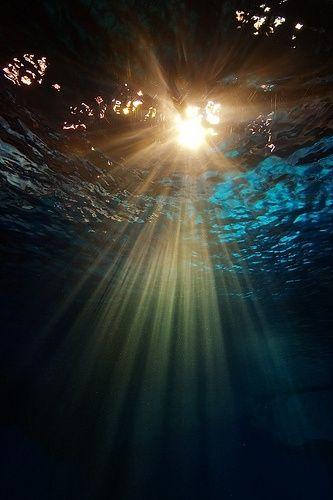Sun through the water
