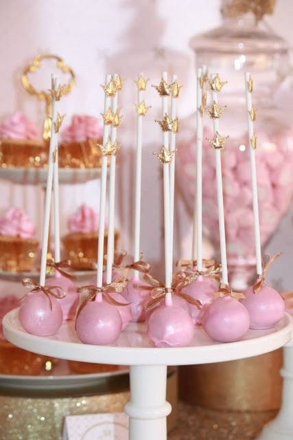 Gold and Pink Princess Themed Birthday Party by Couture Event Styling