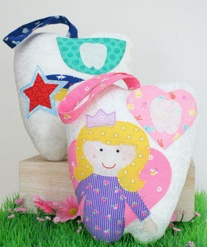 """""""Tooth Fairy Cushions """" designed by Jemima Flendt for Tied With A Ribbon."""