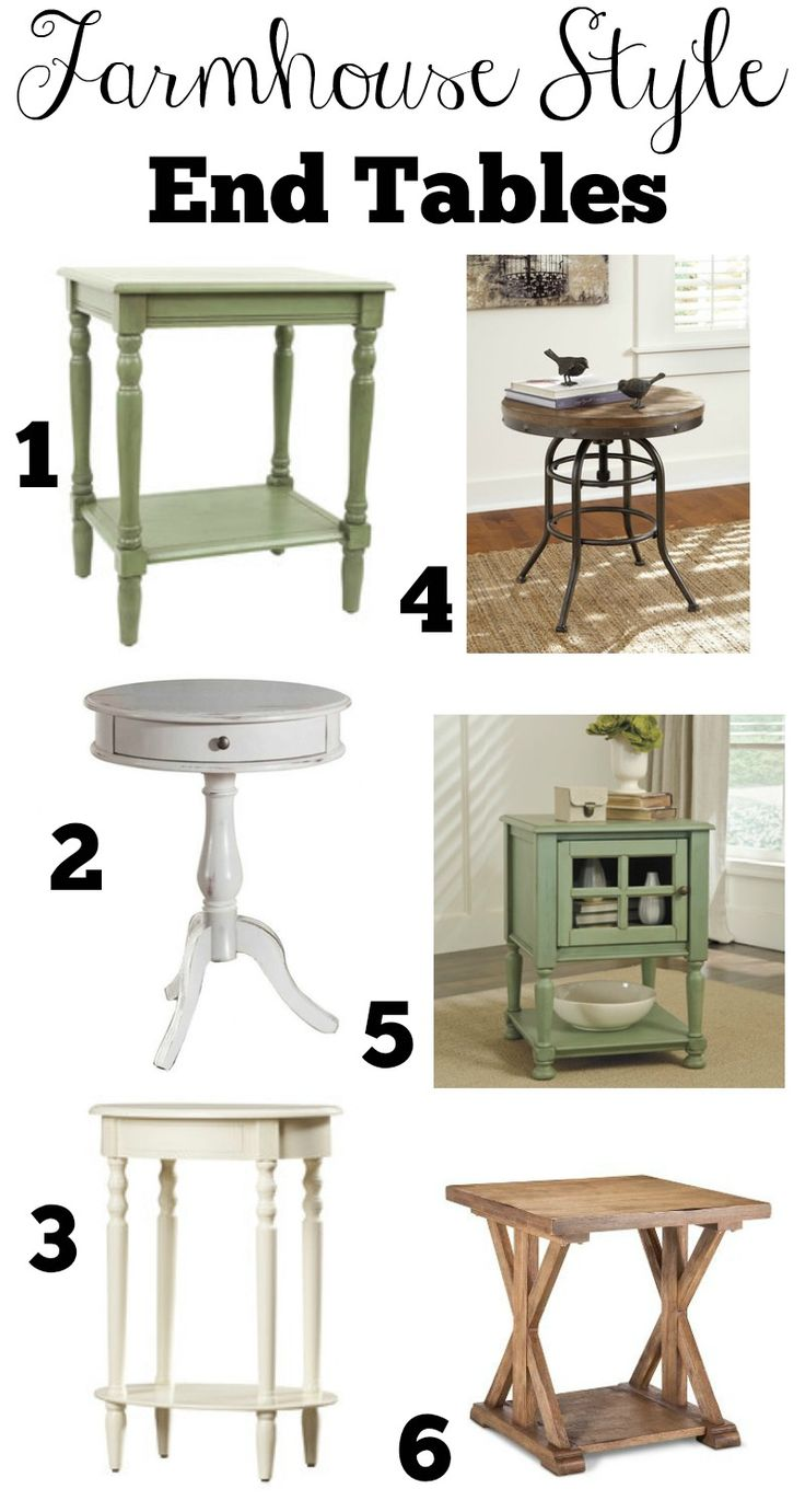 Ultra modern end tables - Affordable Farmhouse Style End Tables