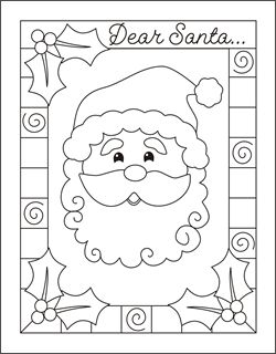 write a letter to santa christmas coloring cards for kids printable free coloring cards christmas coloring pages free squishy cute crafts