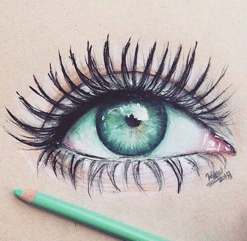 Beautiful eye drawing ♡