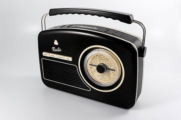 Portable DAB & FM RADIO (Black) Vintage 50/60'S Style Retro