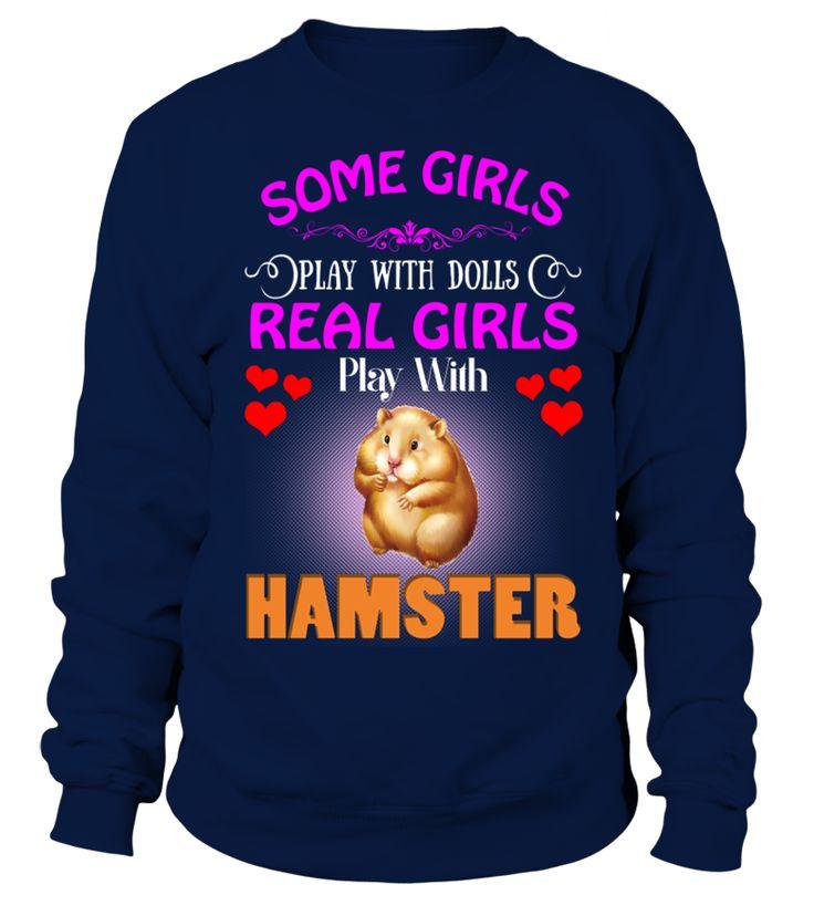 Niektóre Dziewczyny Kochają Lalki Prawdziwe Dziewczyny Miłość Hamster Pies  Funny Hamster T-shirt, Best Hamster T-shirt