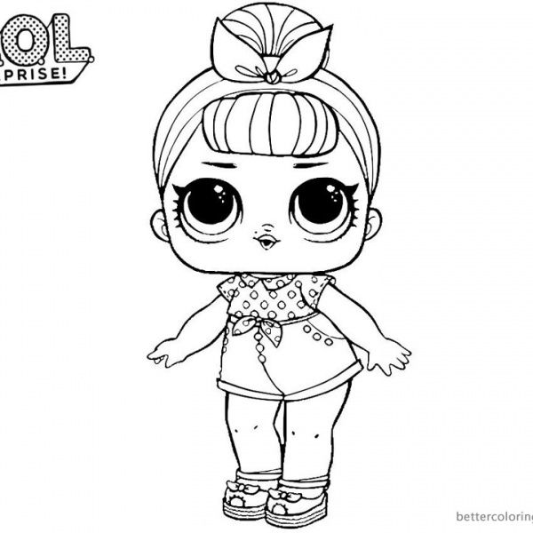 Mermaid Lol Surprise Doll Coloring Pages Merbaby Coloring Pages