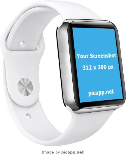 See how your new iOS app comes to life with this smooth, practical white Apple Watch mockup template from Picapp.net. How to put your app screenshot in this Apple Watch easy and without effort? Picapp.net is here to help you. Go to Picapp.net, choose what device frame you like and upload your app screenshot. The good part: FREE DOWNLOAD!  #apple #nobackground #mockup #AppleWatch #smartwatch #picapp
