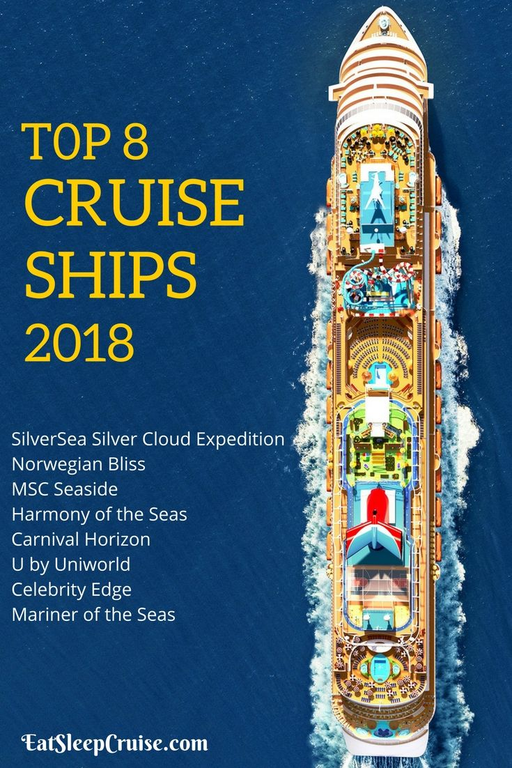 Preview of the best new cruise ships of the year. We have our list of the top 8 cruise ships of 2018 from all of the major cruise lines. #Cruise #CruiseShip