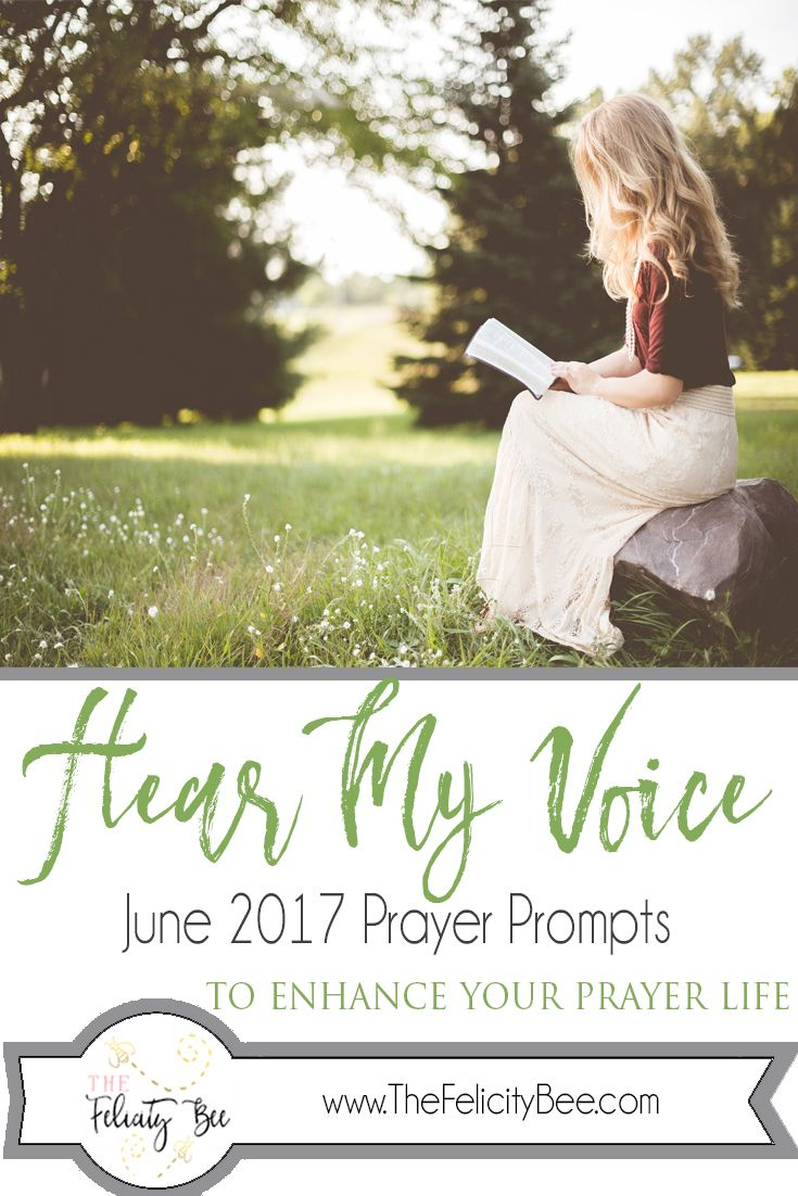 Hear My Voice Prayer Journal Prompts. Prayer journaling has the ability to transform your prayer time as you focus your prayers to the Father. These prompts are designed to ignite your prayer life and remind you that our Father hears your voice. CLICK HERE for your Prayer Prompts.