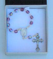 Amethyst Handheld Rosary Beads.