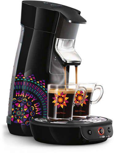Philips HD7836/21 SENSEO Machine à dosette Noir 0,9 L: 1 ou 2 tasses à la fois Température optimale dès la première tasse Technologie…