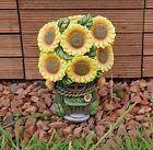 Solar Powered Light Up LED Sunflower Fairy House Flower Garden Ornament Gift UK