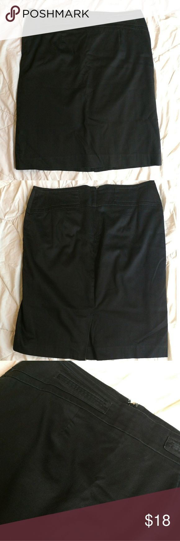 """Atelier Luxe Boutique black pencil skirt Atelier Luxe boutique black pencil skirt with mini slit on back size 10. Gently used with no flaws.  Flat Lay Waist: 16.5"""" Length: 21.5"""" Atelier Luxe Skirts Pencil"""