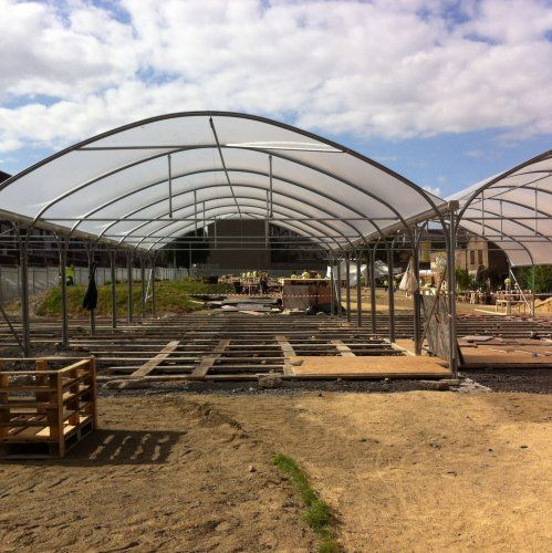 Poly tunnels being built