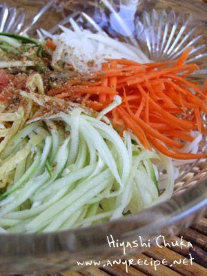 How to make Cold Noodles, Hiyashi Chuka, Hiyashi chuuka, Japanese recipe