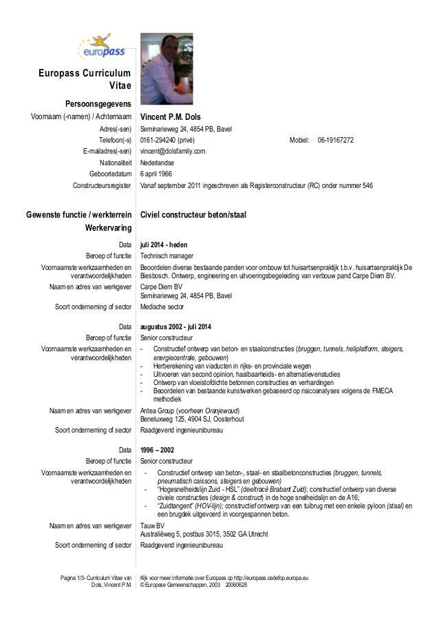 Cv Template Nederlands Resume Format Cv Template Resume Templates Cv Design Template
