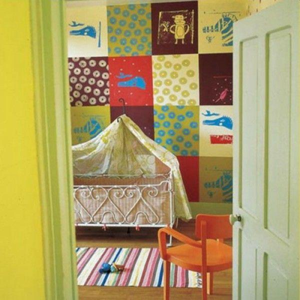 Warna Hijau kain Perca Pada Dekorasi Kamar Bayi