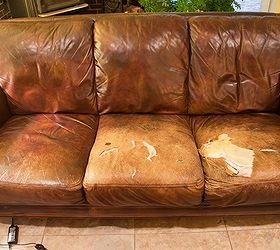 Recovering a leather couch