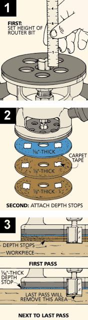 home garden plan store: Depth Stops for a Hand-Held Router