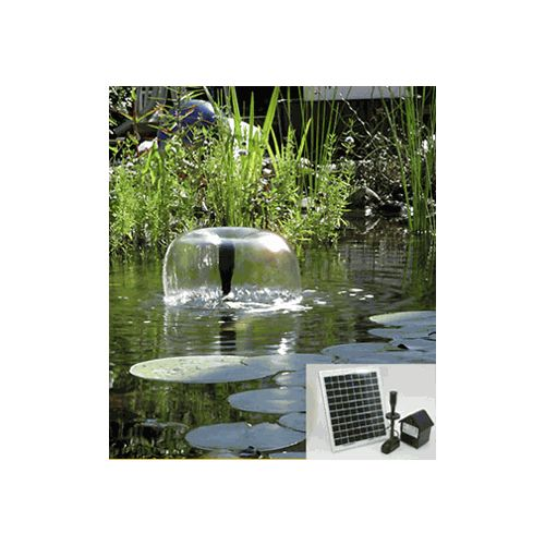10 Watt Solar Powered Outdoor Garden Water Pump Landscape Fountain Kit, As  Shown