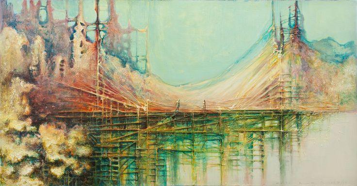"""The Bridge"" mixed on canvas 120X80  2010"
