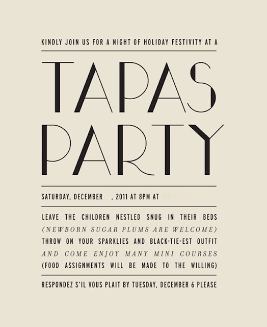 13 best images about Tapas Party Invitation on Pinterest ...