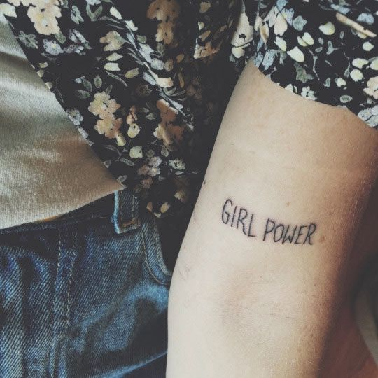 Girl power tattoo by Mpatshi