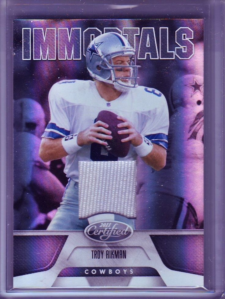2011 Certified TROY AIKMAN GU Jersey Relic /99 SILVER Immortals DAL Cowboys SP