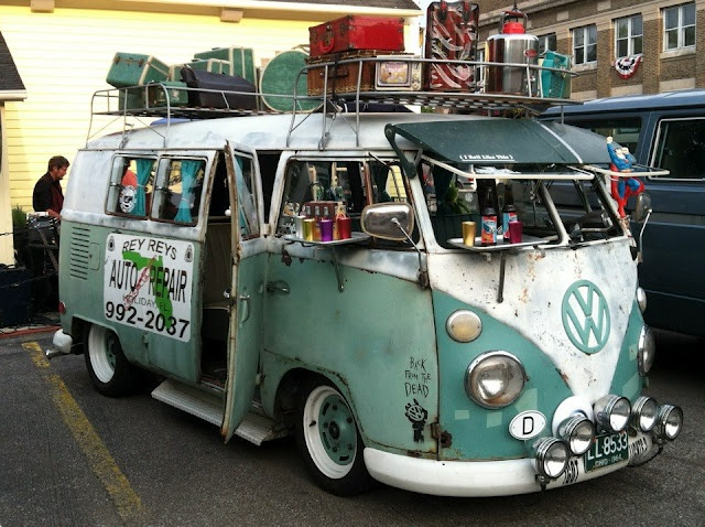 VW bus in Vermillion Ohio.