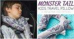 Free pattern: Monster tail kids travel pillow