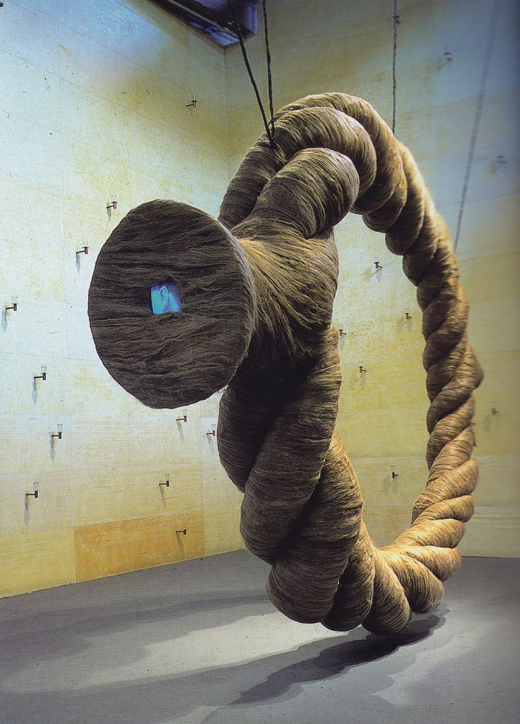 this is Ann Hamilton's giant Rope installation. I think the materials she uses are really cool