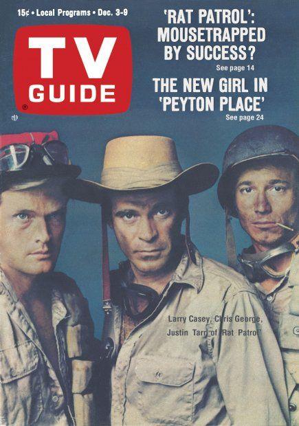 "TV Guide: December 3, 1966 - Larry Casey, Chris George and Justin Tarr of ""Rat Patrol"""
