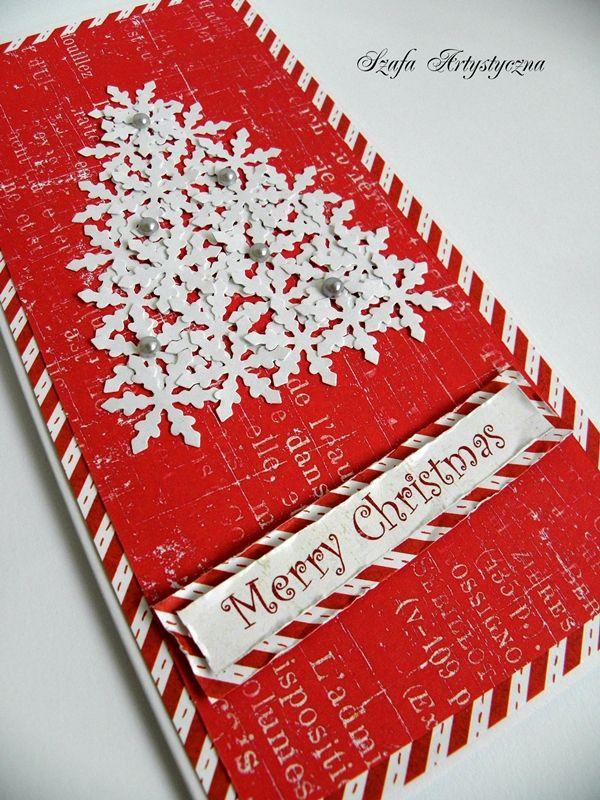 Ręcznie robiona kartka świąteczna z choinką / Christmas card