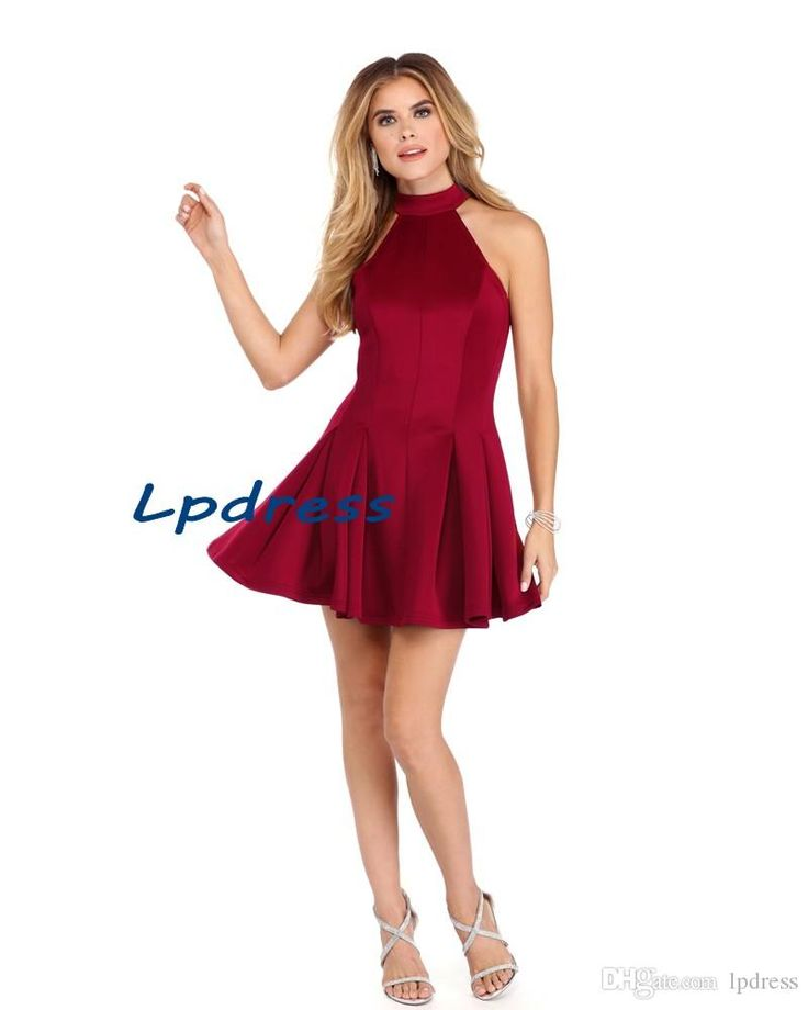 free shipping, $70.44/piece:buy wholesale  2016 burgundy party dresses elastic satin halter sleeveless zipper short cocktail dresses custom made royal blue 2016 spring summer,reference images,custom made on lpdress's Store from DHgate.com, get worldwide delivery and buyer protection service.