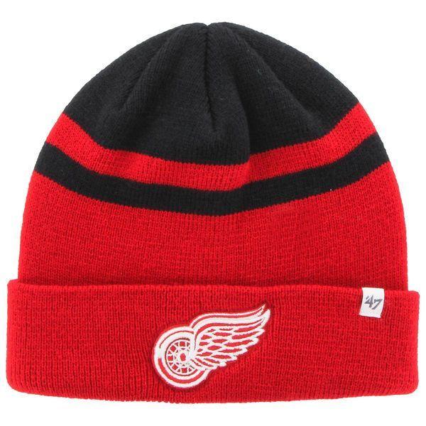 Men's Detroit Red Wings '47 Red/Black Cedarwood Cuffed Knit Hat  $17.99