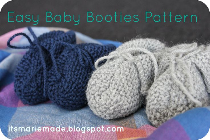 It's Marie Made!: Easy Baby Booties Pattern